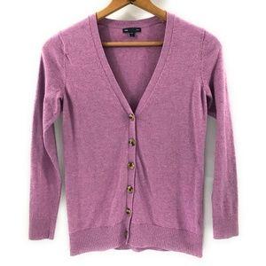 Gap Womens Lavender Purple Button Cardigan, Small
